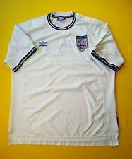England soccer jersey 2XL autograph 1999 2001 home shirt Umbro ig93 4/5