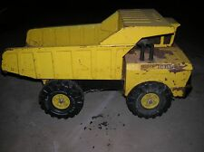 Vintage Yellow Mighty Tonka Dump Truck Metal Construction Children's Toy Rusty