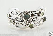 Bat-Ami Sterling Silver Bracelet Cuff w/Labradorite & perhnite BR123