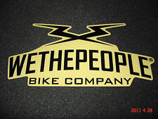 1 AUTHENTIC WETHEPEOPLE WTP BMX BIKE COMPANY STICKER / DECAL #61 AUFKLEBER