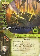 Warhammer Invasion - 1x Rugluds Orks in Rüstung  #045 - Der Eiserne Fels