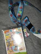 Nickelodeon Rocko's Modern Life ID Card Pin Holder Lanyard & Spunky Dog charm