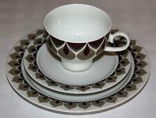 Eschenbach Venezia borde perlas marrón/gris Juego de café 3 PIEZAS PORCELANA