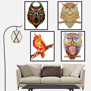 Animal Owl Canvas Art Painting Poster Print Bedroom Wall Picture Home Decor