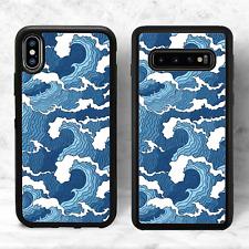Ocean Waves Trendy Blue Phone Case(iPhone Models Samsung 10, Google Pixel 3A)