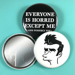"""Quilloughby 2.25"""" *Wink* Pocket Mirror 5 Styles! Morrissey Simpsons MOZ makeup"""