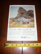 1961 FIAT 1500 SPIDER - ORIGINAL VINTAGE AD
