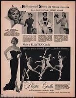 1953 PLAYTEX GIRDLE w/Garters AD Movie Star ZSA ZSA GABOR Photo