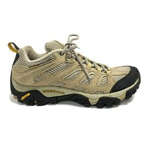 Merrell Moab Ventilator Hiking Shoes Boots Women's Taupe Waterproof Leather Sz 8