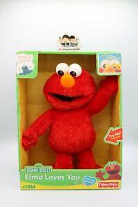 Fisher-Price Sesame Street Elmo Loves You Talking Plush Toy-Needs Batt