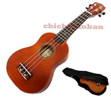 """<Holiday Sale>Woodnote/ Brown with Red 21"""" Wooden Soprano Ukulele+Free Black Bag"""