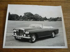BENTLEY S3 CONTINENTAL DROPHEAD COUPE PARK WARD ORIGINAL PRESS PHOTO, TOP DOWN