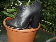 TOPSHOP SMART LEATHER VICTORIAN STYLE ANKLE BOOTS SIZE 3
