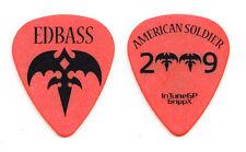 Queensryche Eddie Jackson Orange Guitar Pick - 2009 American Soldier Tour