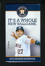 Houston Astros--Jose Altuve--2013 Pocket Schedule--CSN Houston