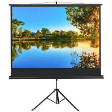 4 3 Portable Tripod HD Projection Screen Home Cinema Projector Black 86''