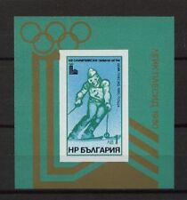 Bulgaria 1979 Sg #ms 2799 Juegos Olímpicos de Invierno Mnh M/s