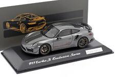 Porsche 911 (991) Turbo S Exclusive Series grau metallic, schwarz 1:43 Spark