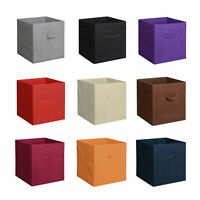 6pk Foldable Square Fabric Storage Box Kids Toys Clothes Organizer Cube Bins 2pk