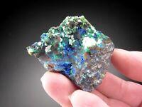 Linarite and Caledonite Crystals, Santa Eulalia, Mexico