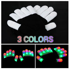 Bunte LED Handschuhe Leuchtenden Coole Spielzeuge Gloves Party Halloween Club DE