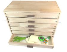 Tool Storage Case Solid Wood Cabinet 6 Drawer Case Wooden Tray Wooden Case