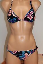 NWT Roxy Swimsuit 2pc Bikini Set Sz S Halter  Knotted Scooter