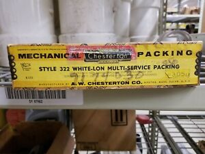 """Chesterton White-lon Multi-Service Packing 3/16"""", 3.05 lbs., Style: 322"""
