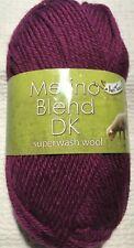 King Cole Merino Blend DK 50g Knitting / Crochet Yarn *ALL SHADES* 100% Wool