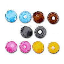 200 Facetado Perlas 6mm Colores Mezcla Plástico Acrílico Zwischenperle Superior