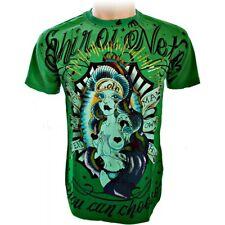 Shiroi Neko Minute Mirth T Shirt Skull Queen Gr.M Farbe Olive grün-
