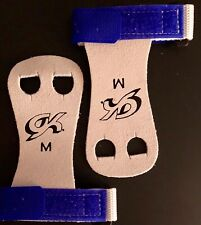 Was $15.99 Nwt! Gk Elite Sportswear Hand Grips With Strap #Gk32 Blue Size Medium
