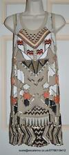 All Saints Newaz Sequin/Embelli/Perles Robe De Soie BNWT Taille Taille 12 £ 250
