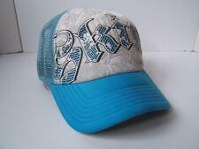 Sombrero de Piel Azul Cierre trasero a presión Gorra Camionero 19f05d9298f