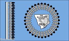 "BLACKFEET NATION FLAG INDIAN TRIBE 5"" STICKER BUMPER CAR  DECAL MADE IN USA"
