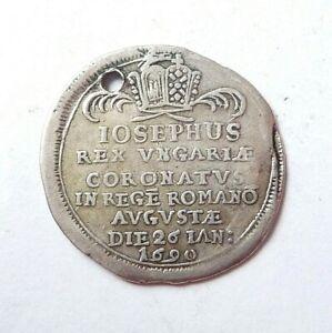 HONGRIE  rare jeton argent 1690