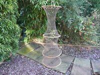 A ANTIQUE EARLY CANE RINGED KEEP NET CIRCA 1870 WITH GAFF AND LANDING NET