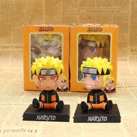 Naruto Uzumaki Bobble Head Phone Holder PVC Figure Collectible Model Toy