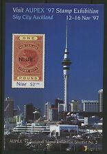 Niue  1997   Scott #   B63     Mint Never Hinged Souvenir Sheet