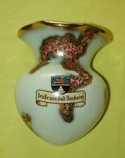 Bad Nauheim 1A Wandvase Wappen 50er- / 60er-Jahre Hessen Wetterau Vase Keramik