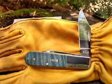 Case xx Barlow Knife Turquoise Curly Maple Wood Stainless Pocket Knives 23362