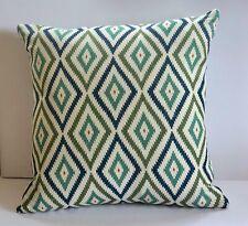 """Bennison Little Aztec 20"""" 100% Linen, Hand-Printed Cushion, Pillow, Home decor,"""