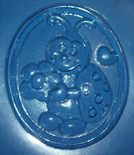 MEDIUM SIZED OVAL SHAPE WITH A CUTE LADYBUG CHOCOLATE MOULD OR PLASTER MOULD