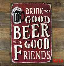 Tin Sign Vintage Retro Metal Poster Bar Pub Wall Decor Drink Good Beer Wine