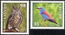 Latvia 2010 Eagle Owl/Roller/Birds/Nature/Wildlife/Conservation 2v set (n29982)