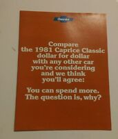 1981 Chevrolet Caprice dealer brochure