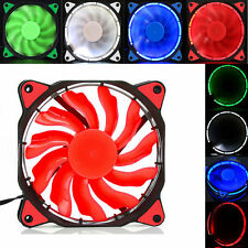 For Radiator Mod Quiet 120mm 12V 3 4pin LED Effects Clear Computer Case Fan HOT