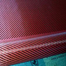 "Carbon Fiber / Red Kevlar Cloth Fabric 2x2 Twill 40"" 3k 5.9oz / 200gsm"