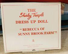 Dm-10 - Shirley Temple / Dress Up Doll / Rebecca Of Sunny Brook Farm / Danbury