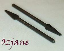 LEGO SPARES PARTS 4497 PEARL DARK GREY MINI FIGURE WEAPON PIKE SPEAR 2 PIECES